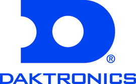 Daktronics logo in blue