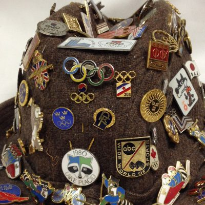Hat with 1980 Olympic pins